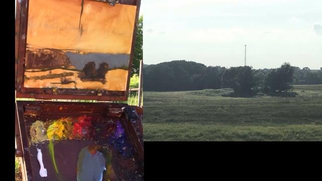 Plein Air Painting - Pasture Glow