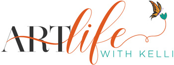 Logo for Art instruction website Art Life with Kelli Folsom