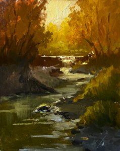Autumn Creek - Painting by Kelli Folsom