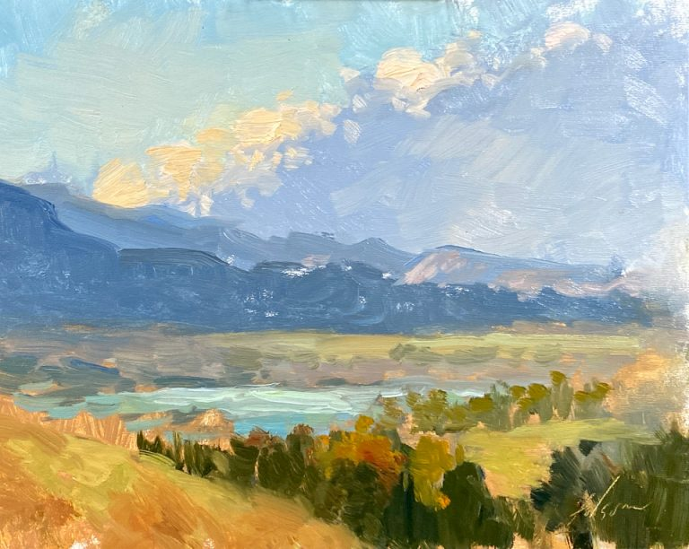 Fall Valley Vista - Painting by Kelli Folsom