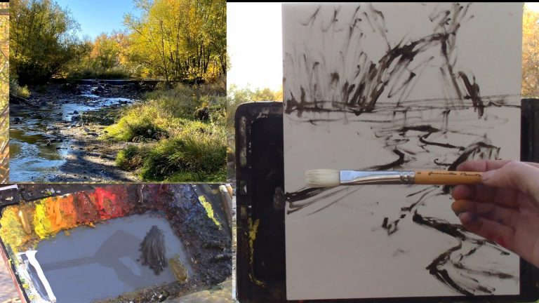 Plein Air with Kelli - Fall in Colorado - Autumn Creek