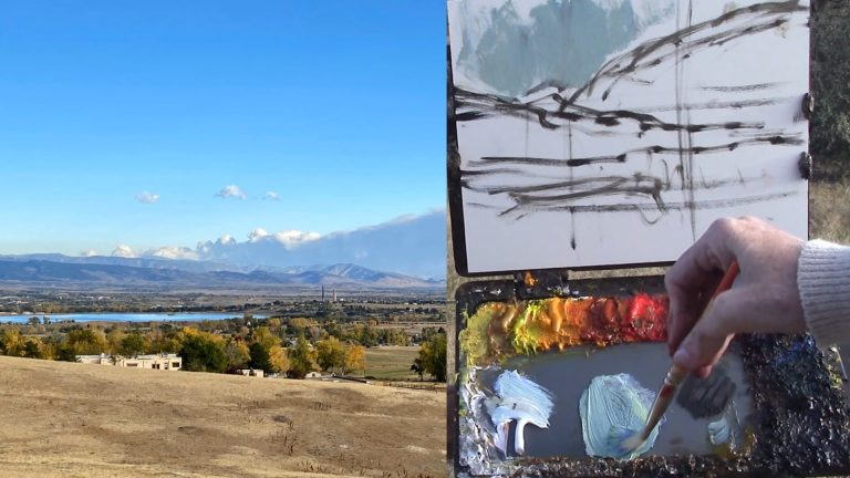 Plein Air with Kelli - Fall in Colorado - Fall Valley Vista