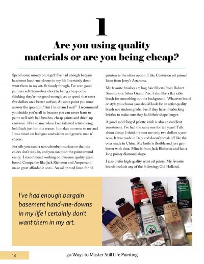 Are you using quality materials?