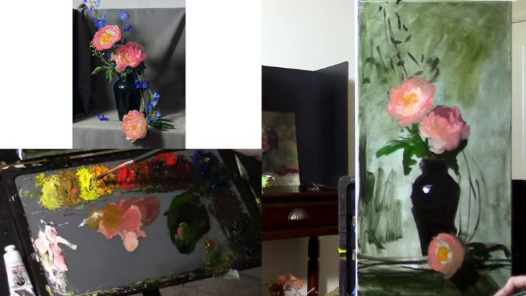 Peonies and Delphiniums video