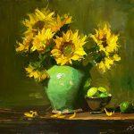 Summer Sunflowers in a Confit Jar
